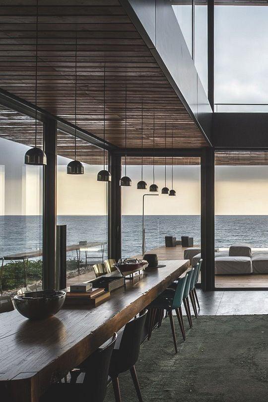 Cucine con finestra panoramica - Cucina con vetrata a vista ...
