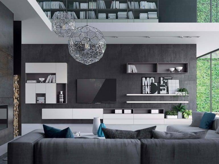 parete-attrezzata-bianco-nero