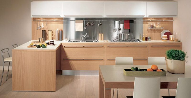 Cucine Moderne In Legno Chiaro.Cucine In Legno