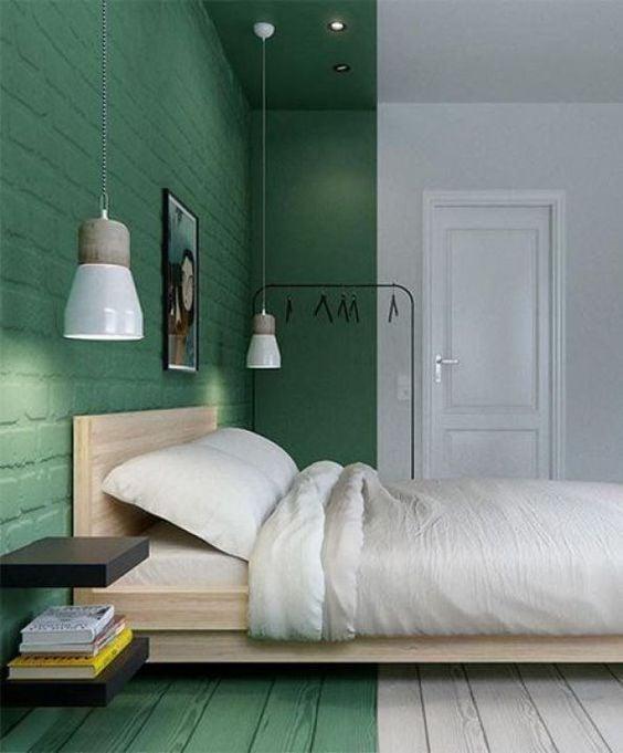 idee-parete-letto-verde
