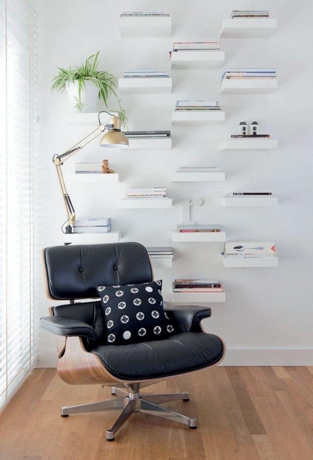 33 idee per utilizzare mensole ikea lack for Mensole arredo salotto