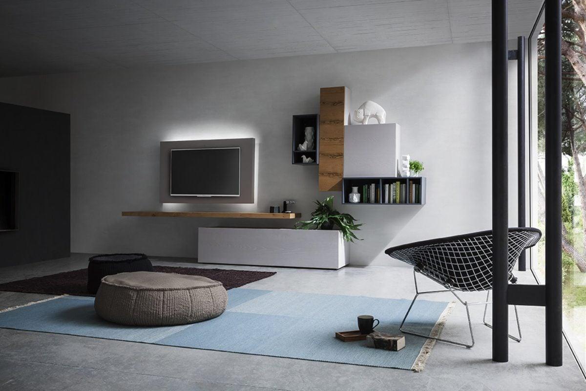 Parete attrezzata moderna for Arredo soggiorno