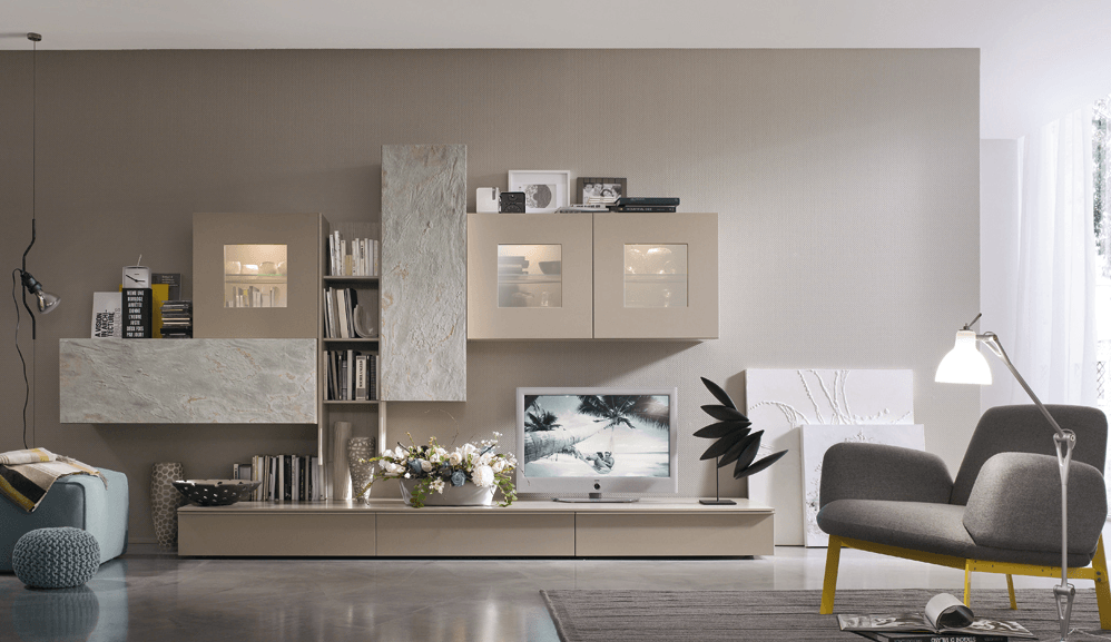 Parete attrezzata moderna for Parete attrezzata moderna soggiorno