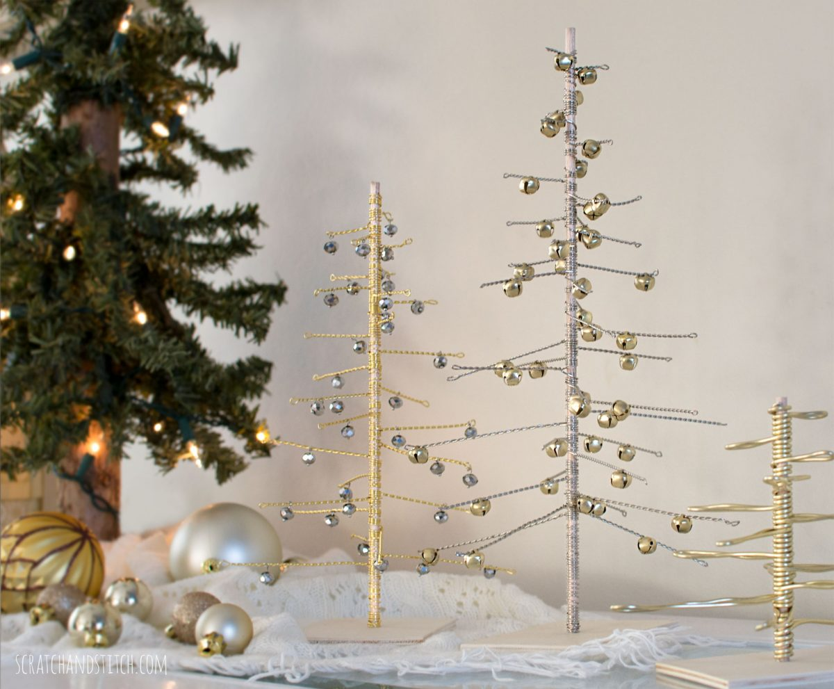 Alberi Di Natale In Legno Da Parete : Albero di natale con filo di ferro fai da te