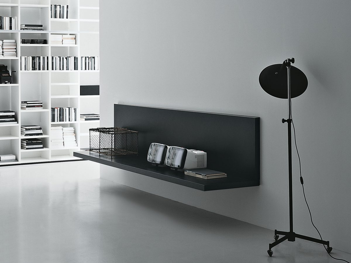 Mobile da parete con ribalta a scrivania sobuy tavolo for Mobile da scrivania