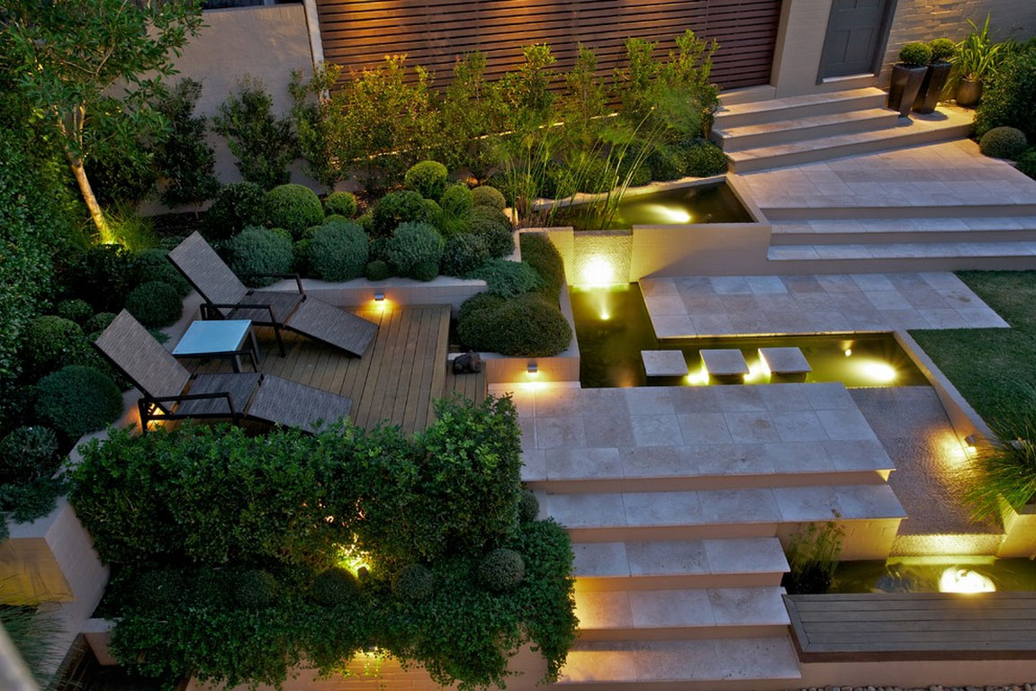 Westwing vasi luminosi design moderno per gli esterni dalani e