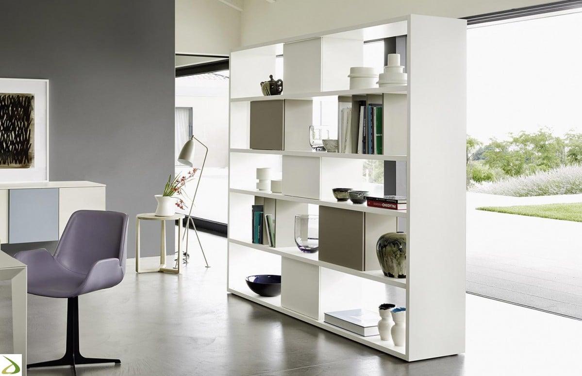 Pareti attrezzate librerie per separare ambienti - Librerie da camera ...