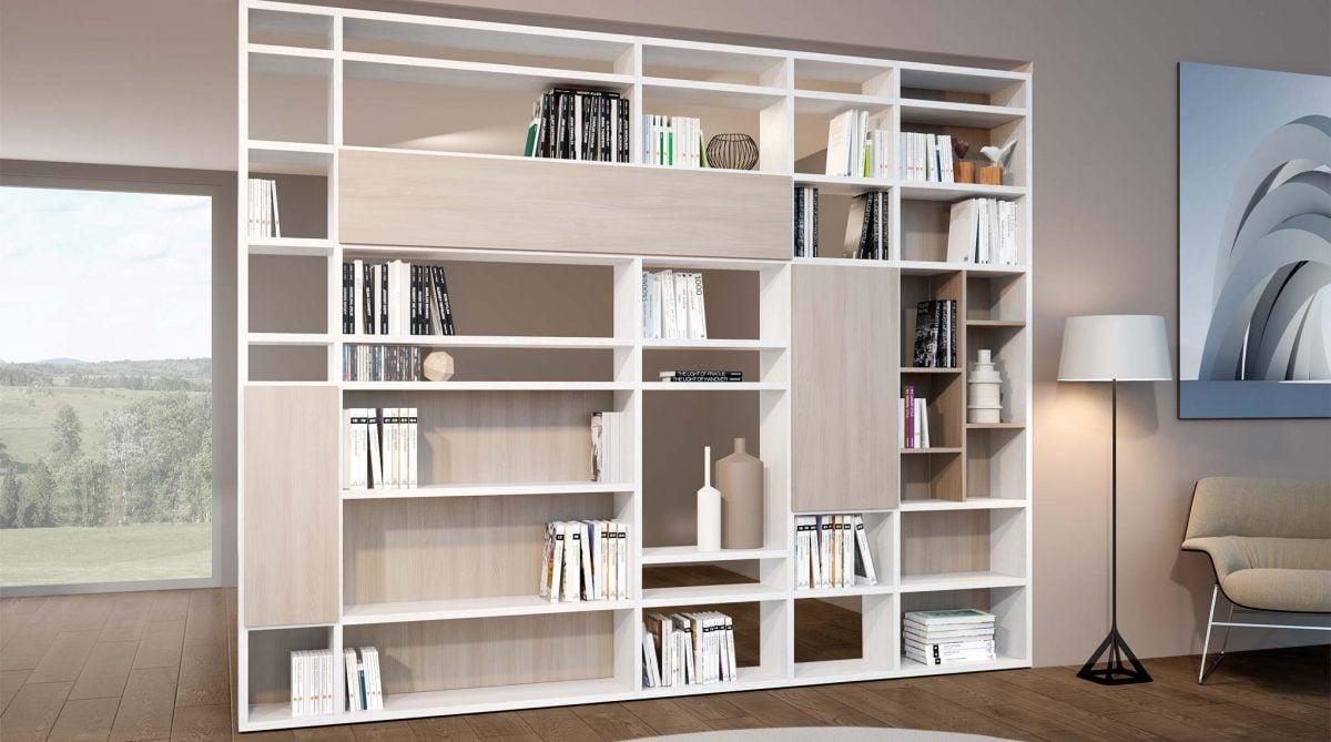 Librerie Parete Moderne.Pareti Attrezzate Librerie Per Separare Ambienti