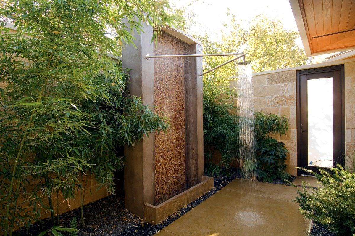 Bagno Esterno In Giardino 60 fantastiche idee di docce da terrazzo e giardino