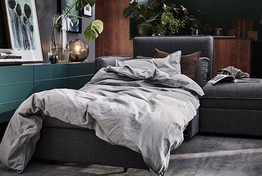 divano-letto-sfoderabile-VALLENTUNA-grigio-IKEA