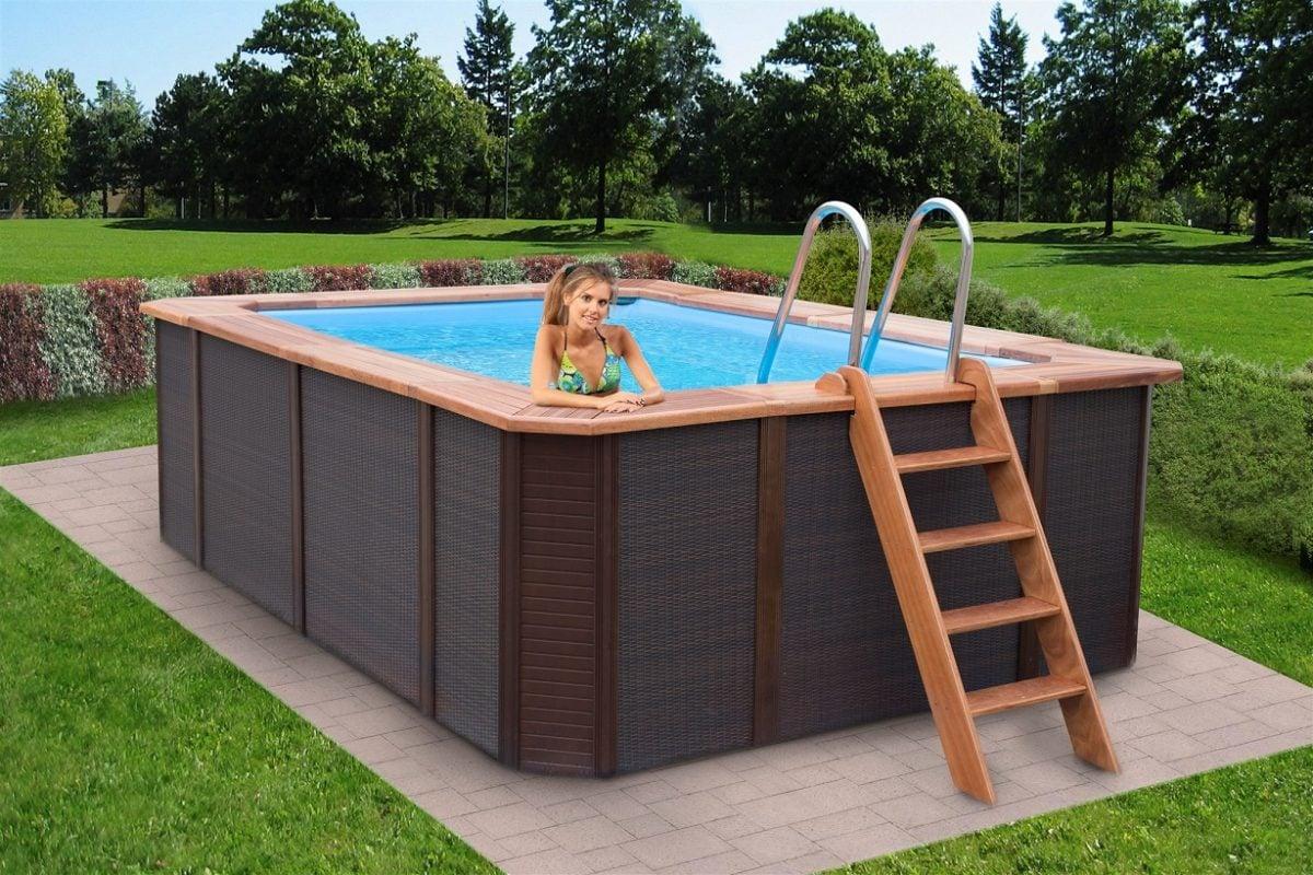 Piscine fuori terra in legno - Immagini di piscina ...