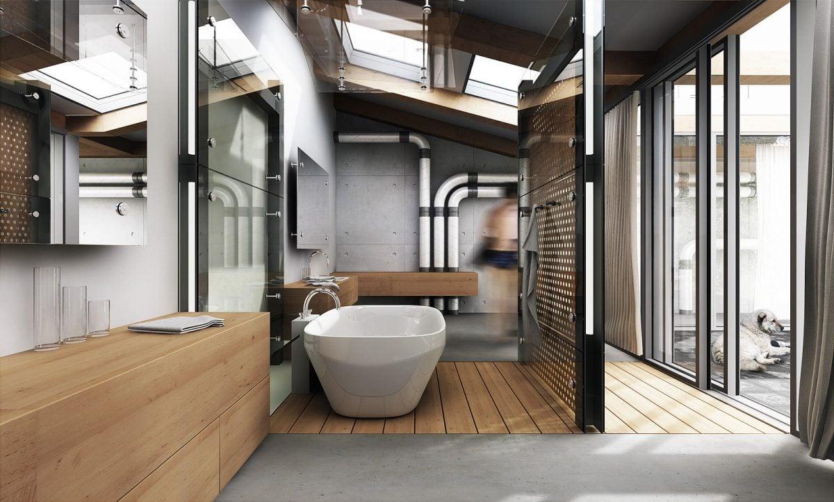 Bagno in stile industriale for Case di stile