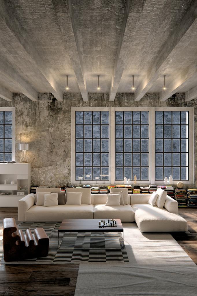 Loft arredamento in stile industriale for Piani di casa con design loft