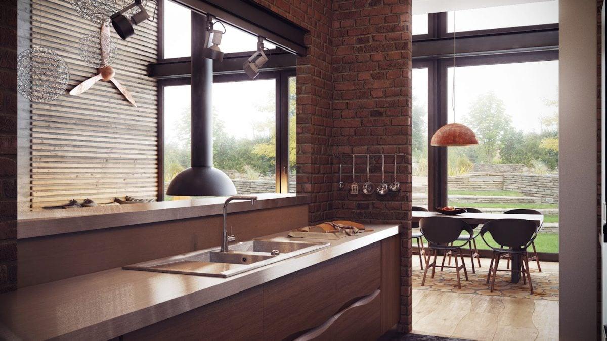 cucina-mattoni-loft