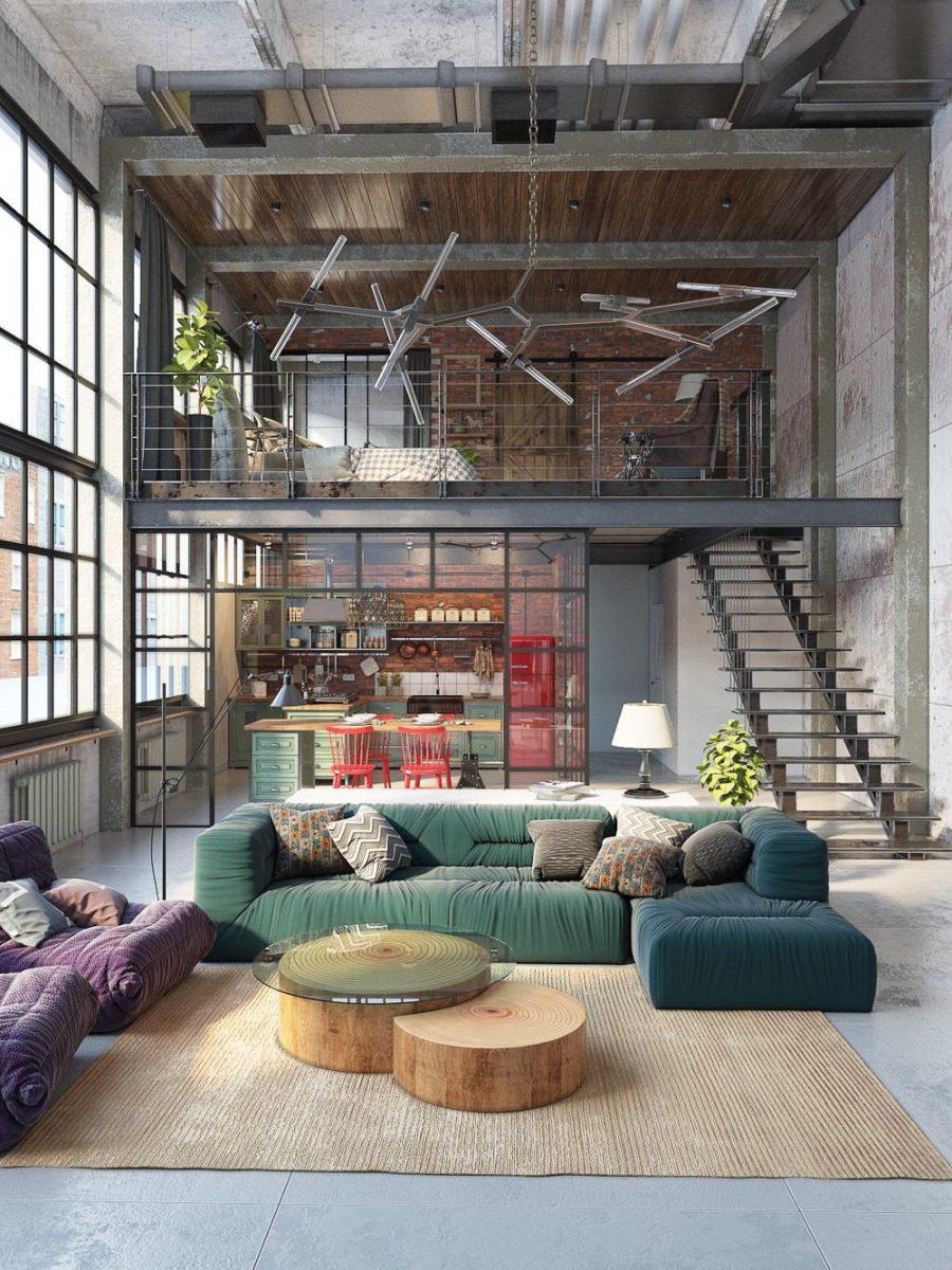 loft arredamento in stile industriale