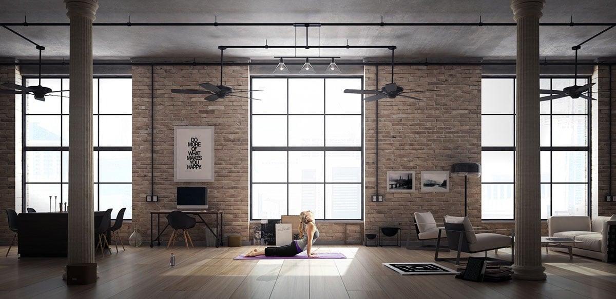 Loft arredamento in stile industriale for Case in stile new england