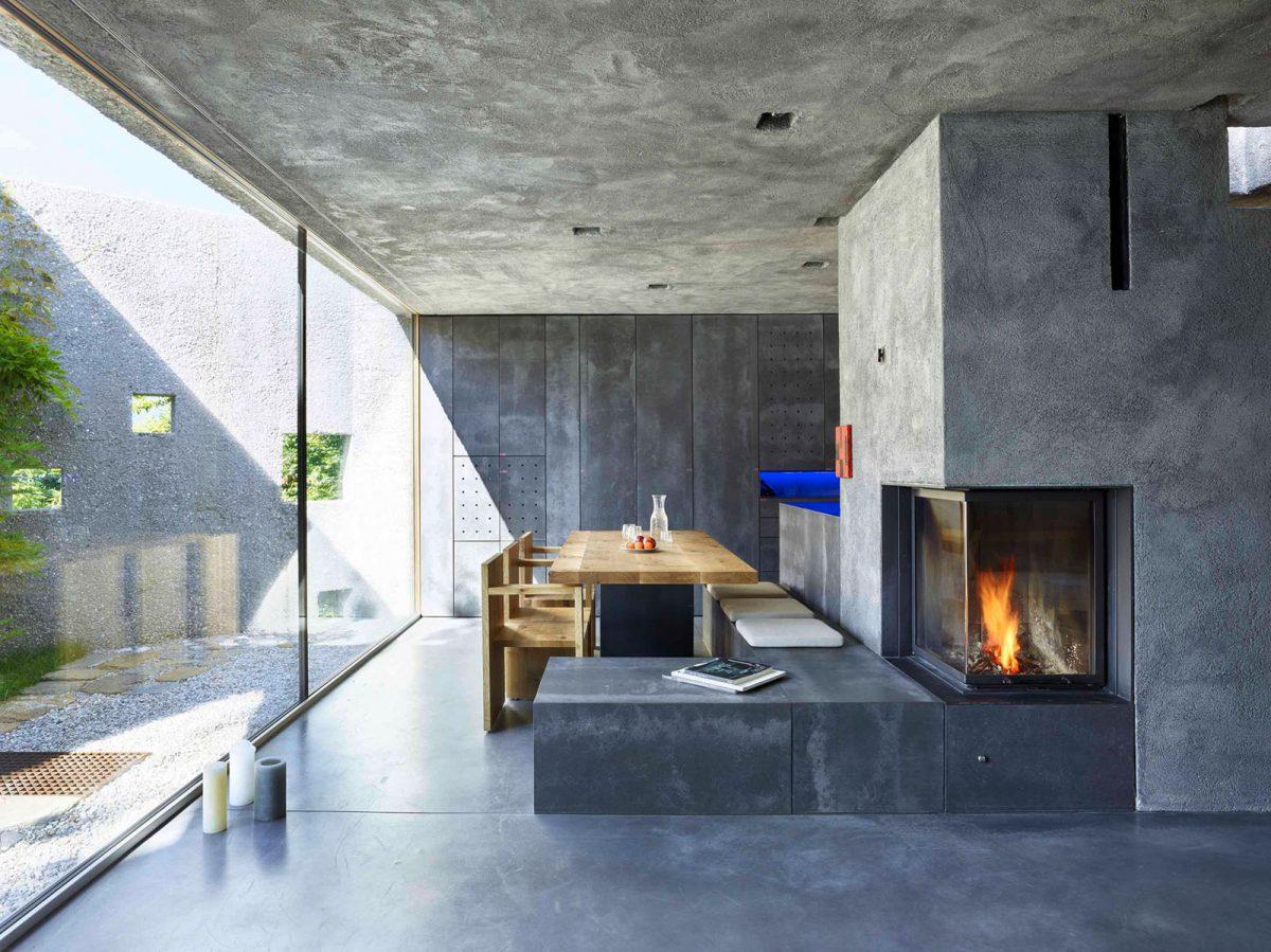 Caminetti Moderni Centrali : Soggiorno con camino