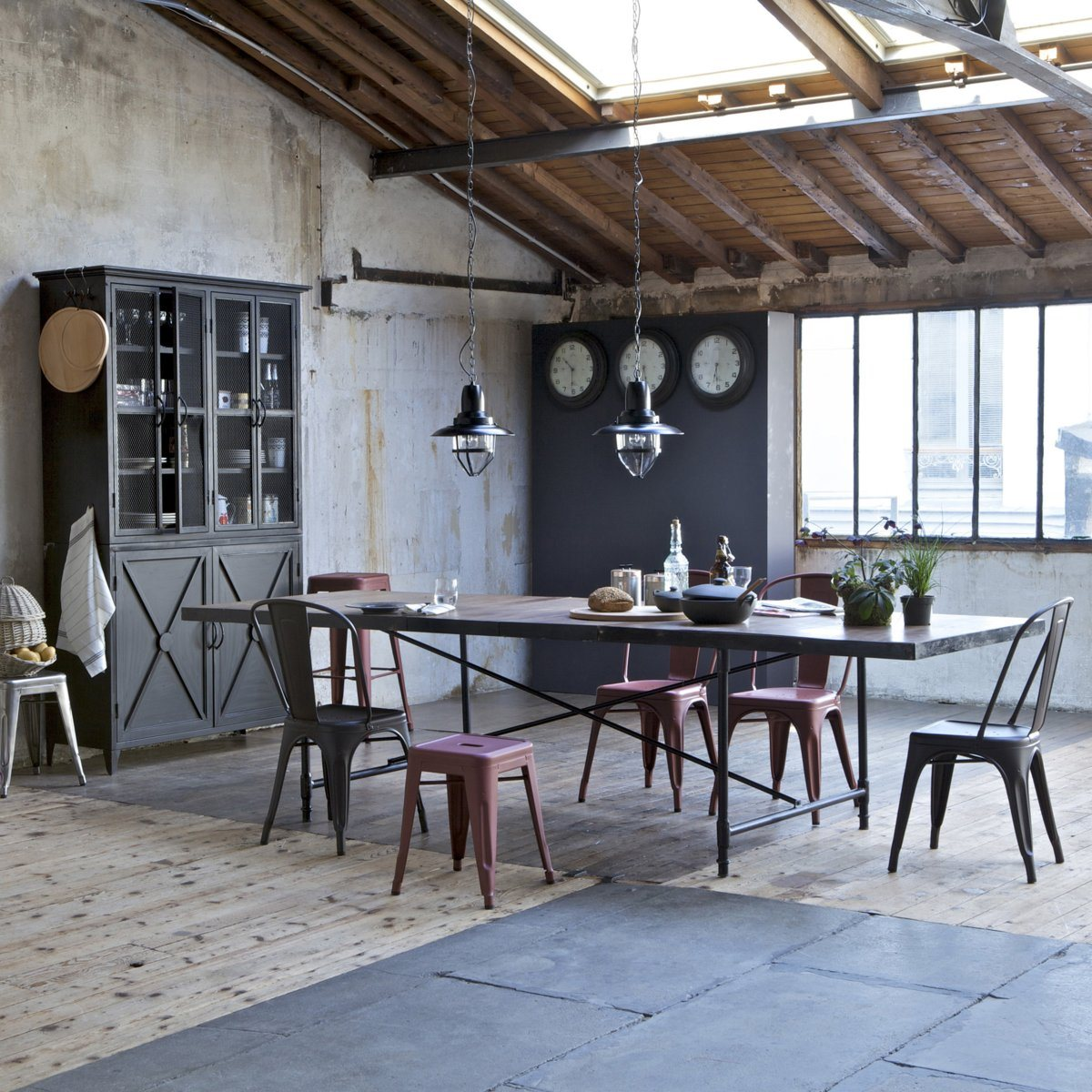 cucina-stile-industriale-neo-shabby-travi-vista