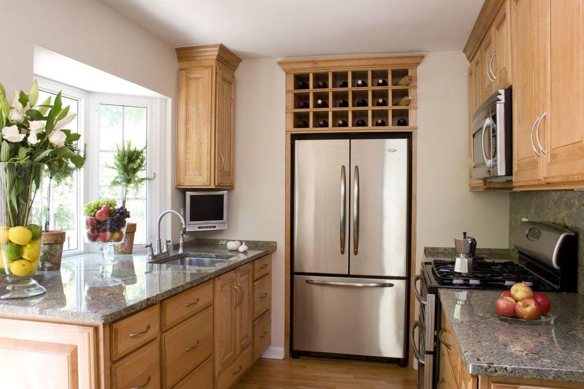 cucina-piccola-frigorifero