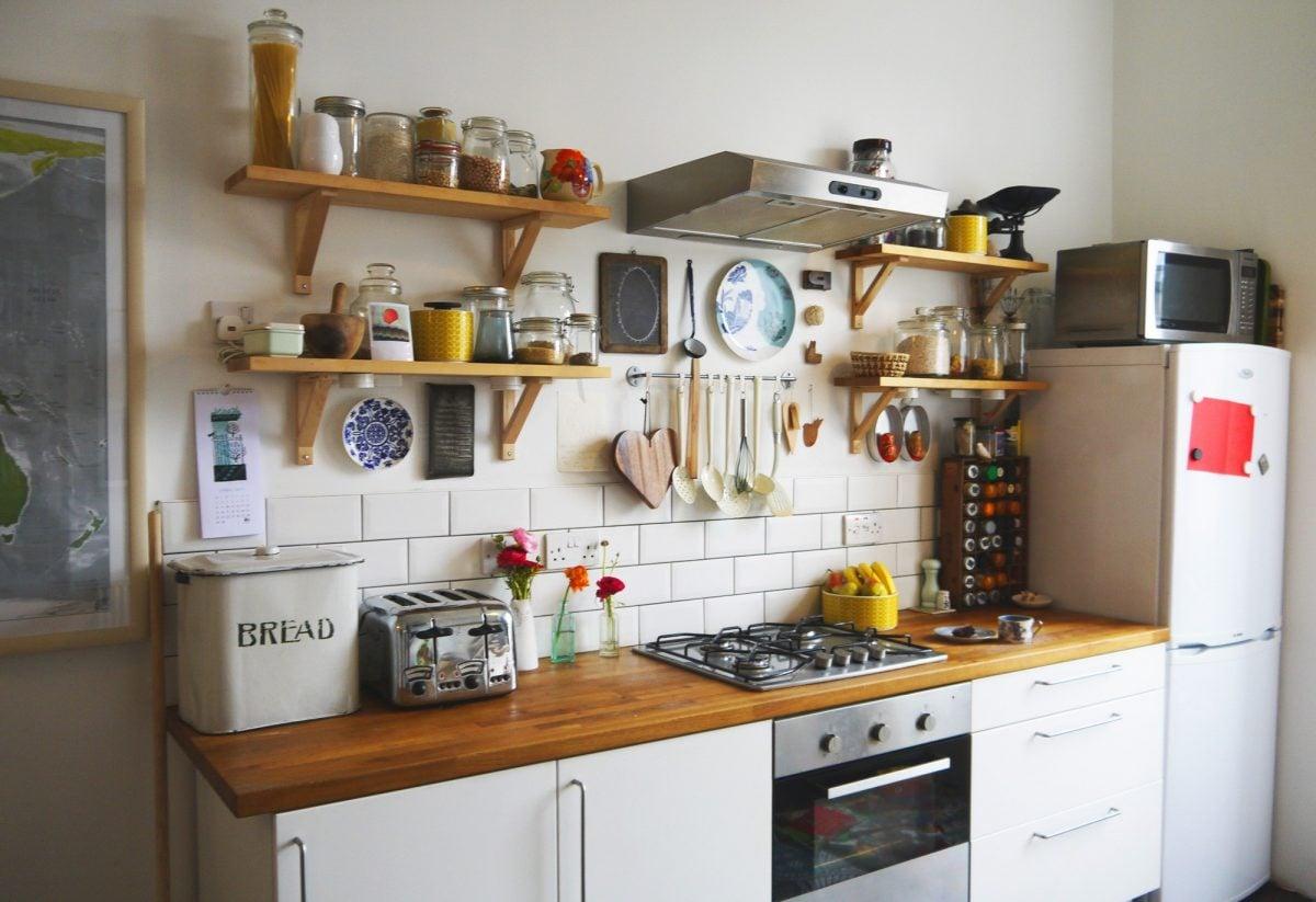 cucina-piccola-mensole