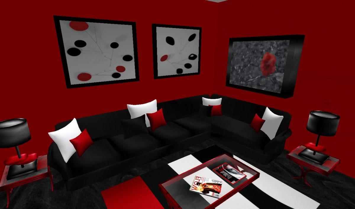colore-nero-soggiorno-rosso-bianco