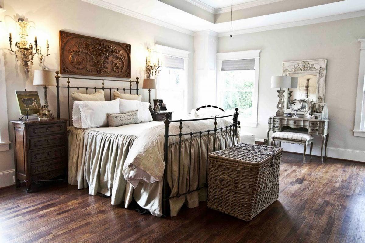 arredamento-stile-country-camera-letto-matrimoniale