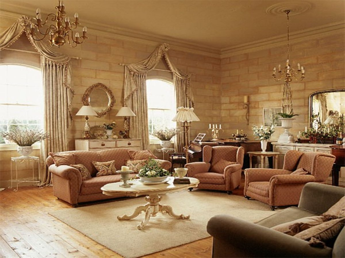 arredamento-stile-country-soggiorno-tendaggi