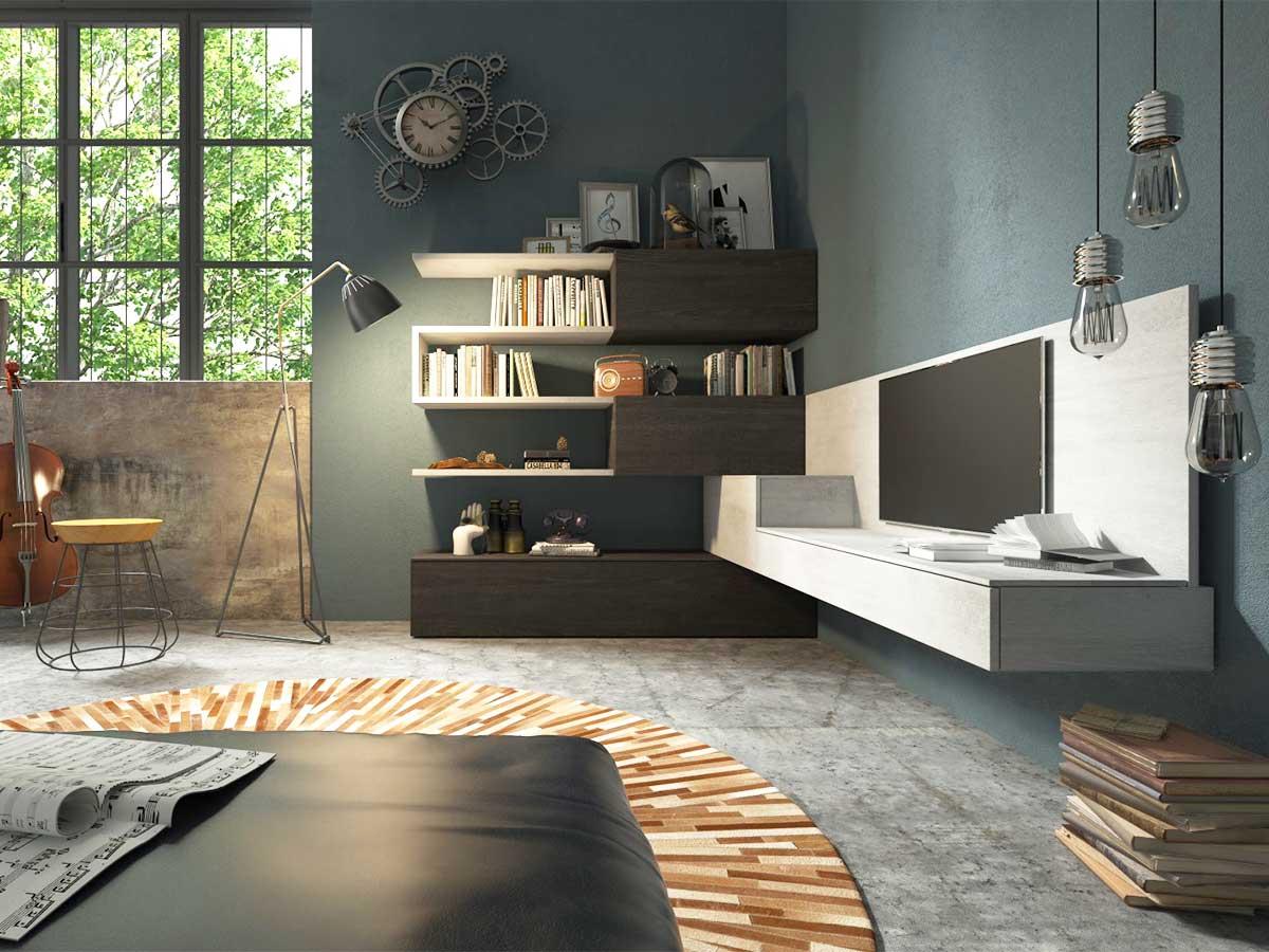 Soggiorno ad angolo for Mobili x soggiorno moderni