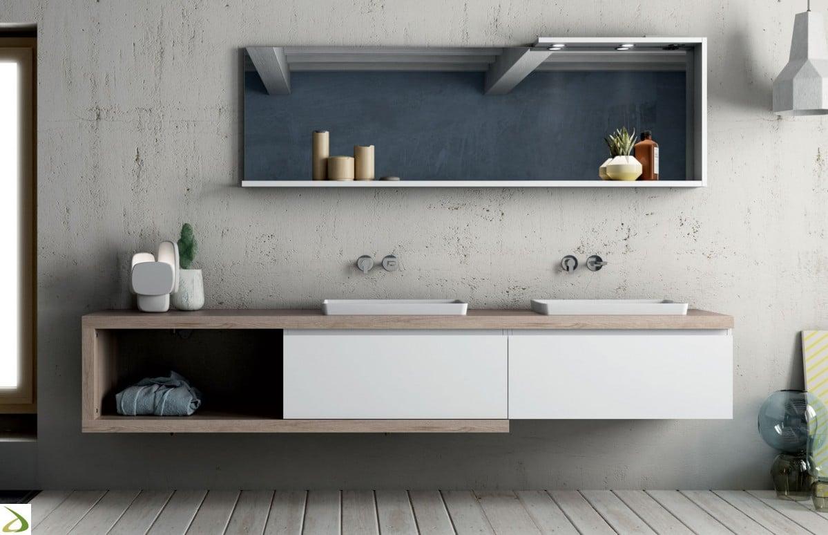 Mobili bagno monoblocco - Mobile bagno con doppio lavabo ...