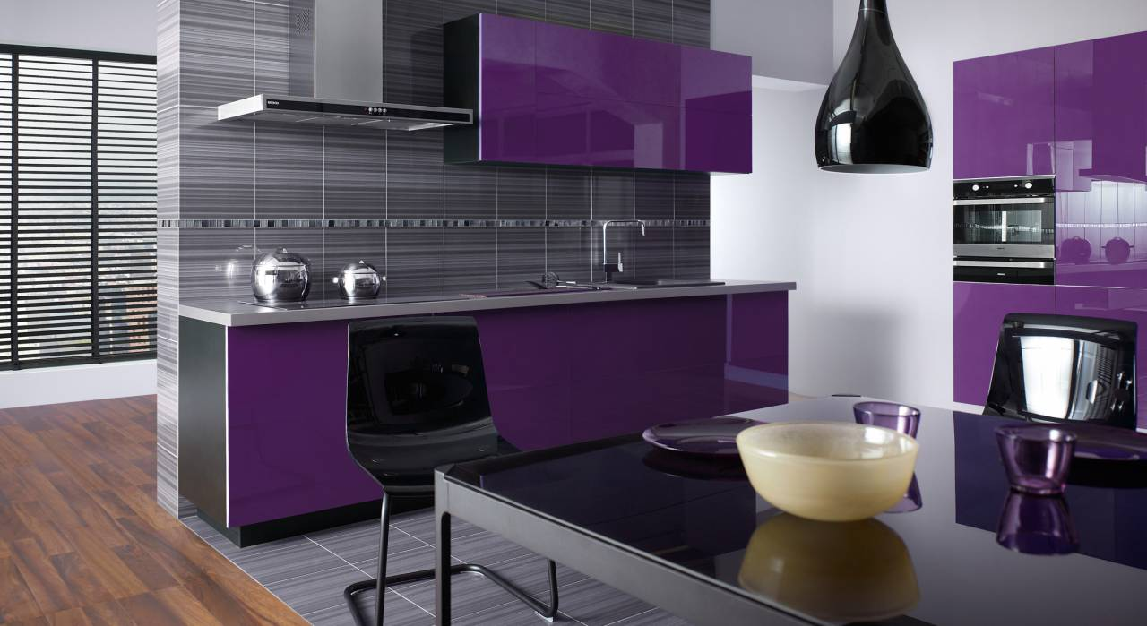 Colore viola - Deco cuisine violet ...