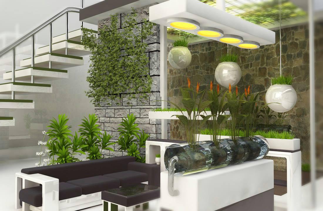 Come realizzare un vero giardino interno in casa