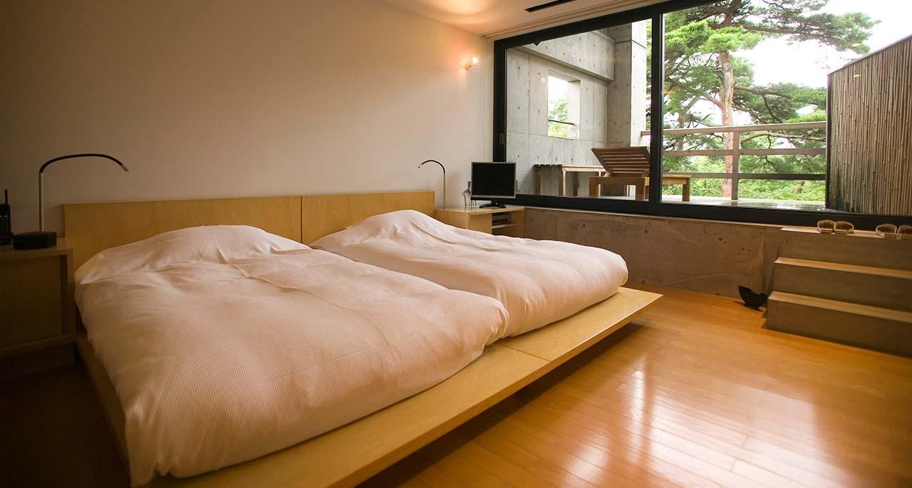letto-basso-stile-giapponese-camera