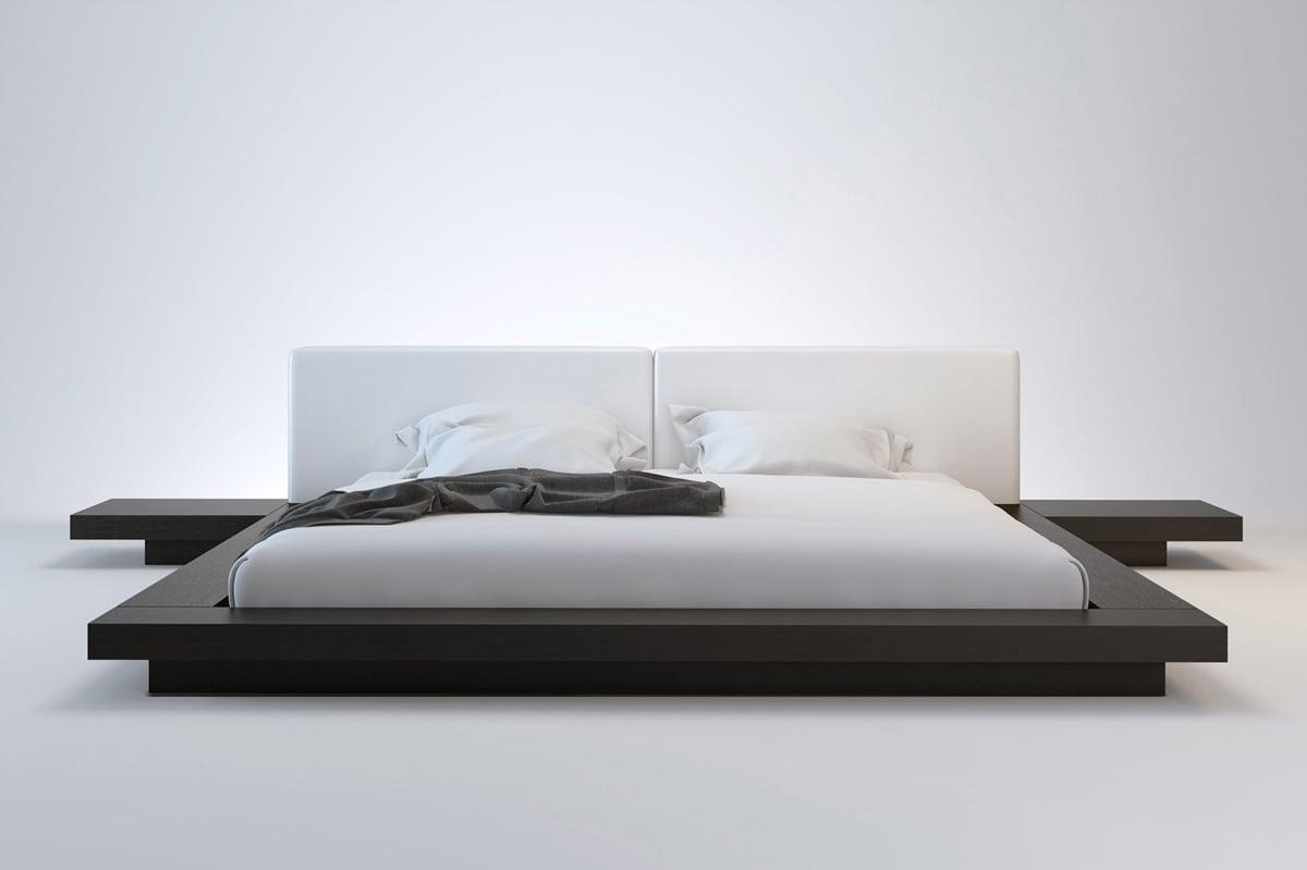 letto-basso-stile-giapponese-matrimoniale
