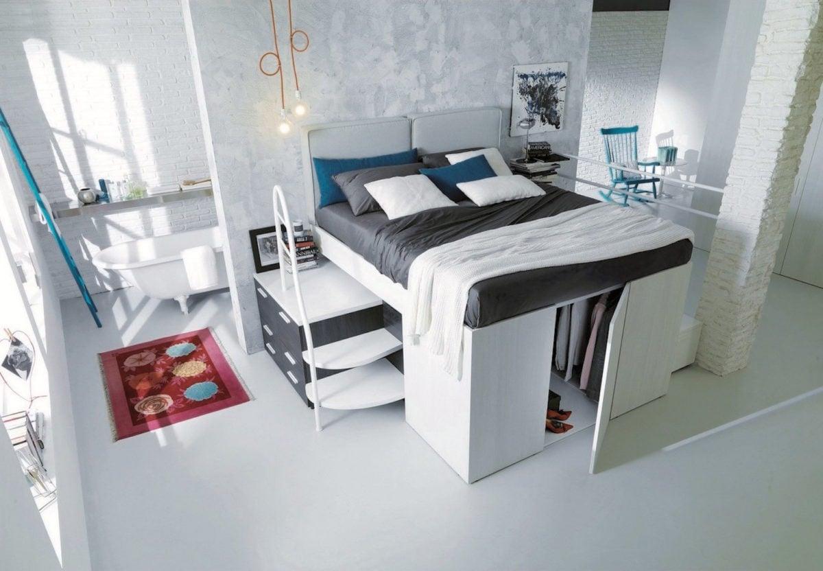 Come Arredare Camera Letto Piccola ottimizzare spazio camera da letto