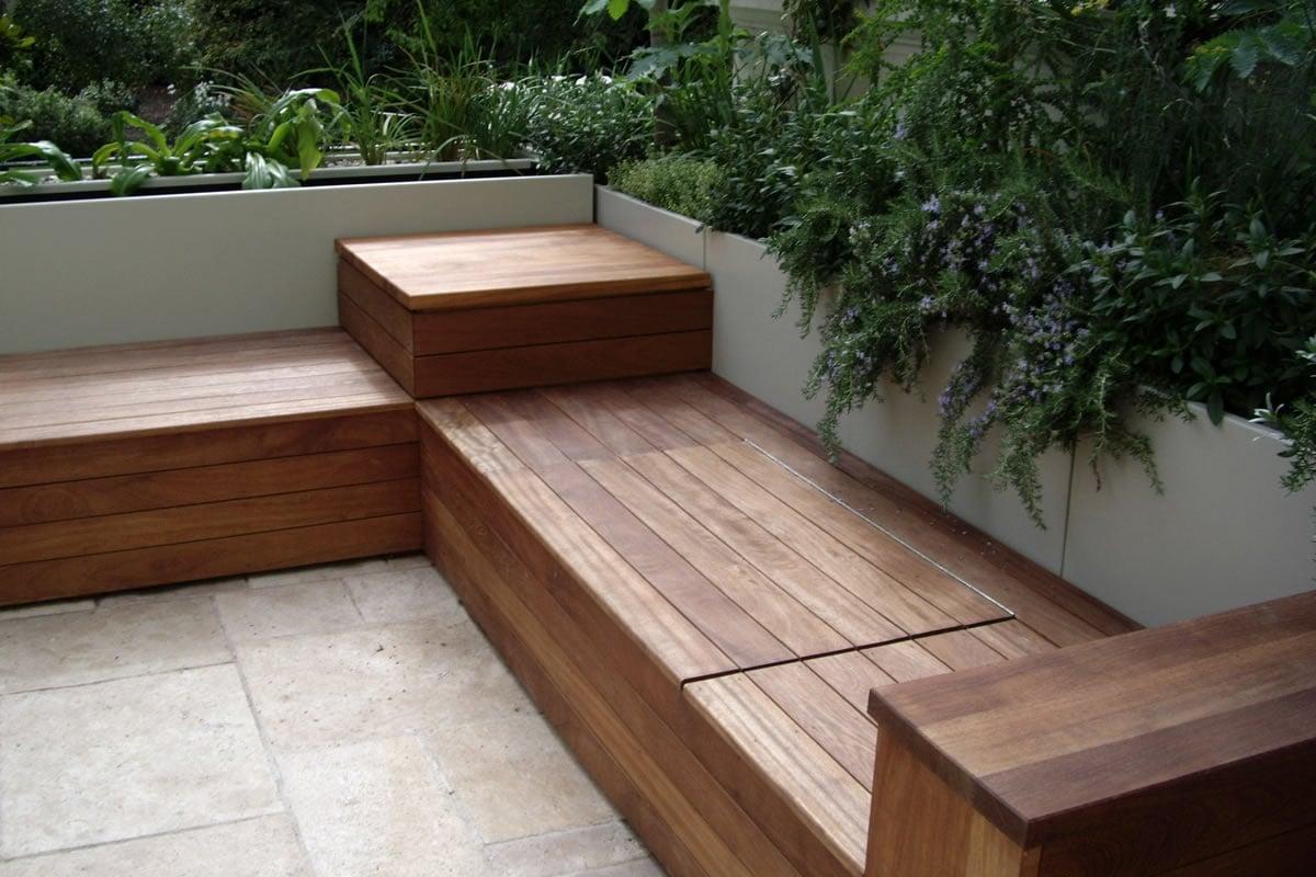 Panchine da esterno for Arredo esterno in legno