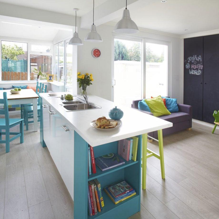 cucina-a-vista-colorata