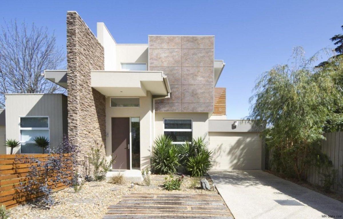 Facciata casa moderna for Colori casa moderna