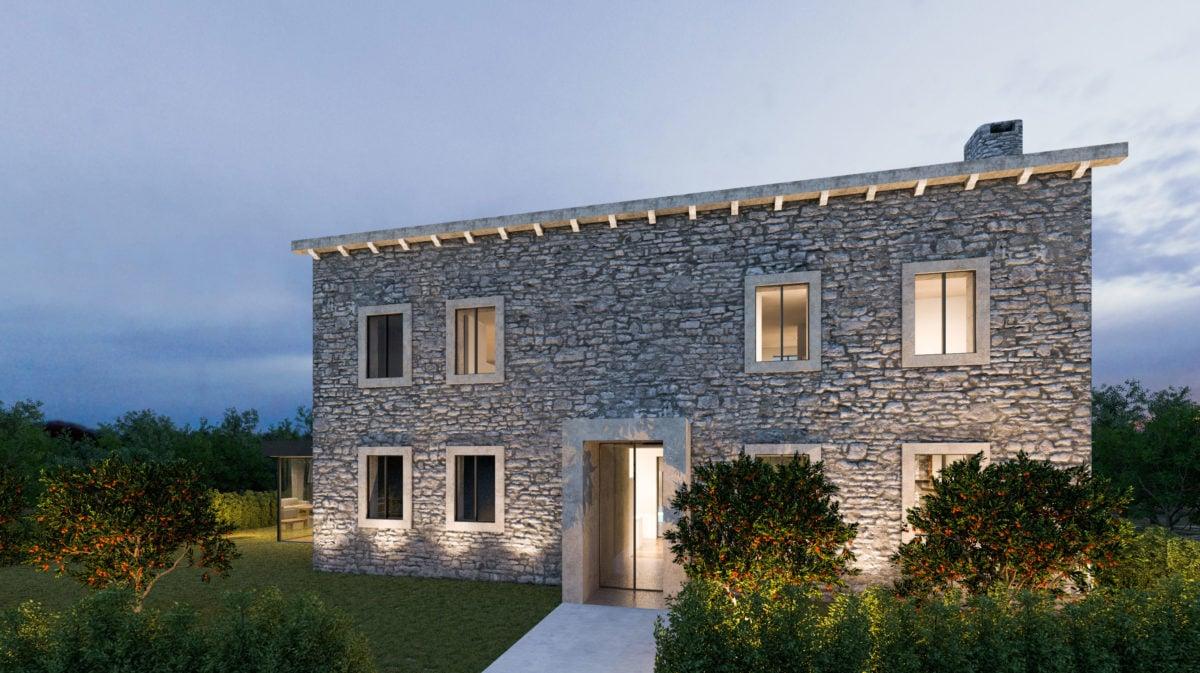 Facciata casa moderna for Case con facciate in pietra