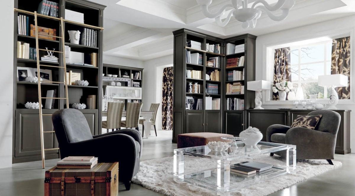 Salone doppio for Lampadari casa classica