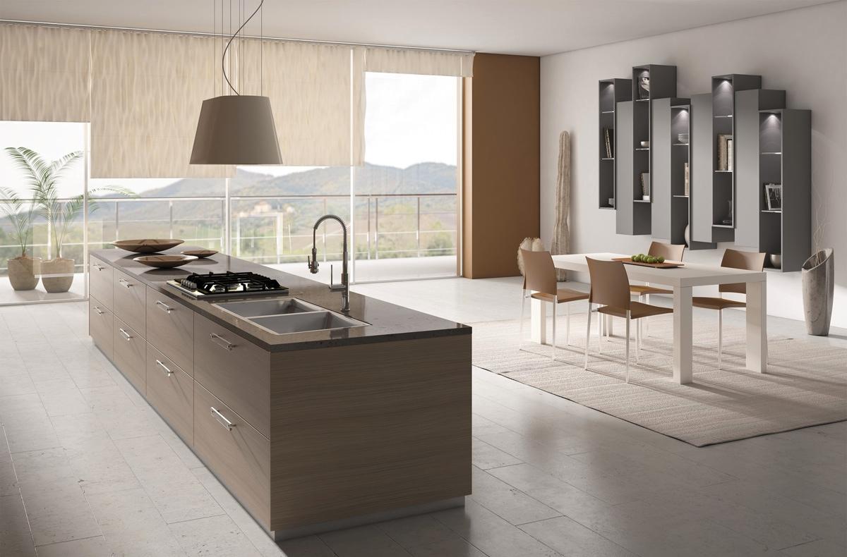 cucina-isola-stile-minimal-chic