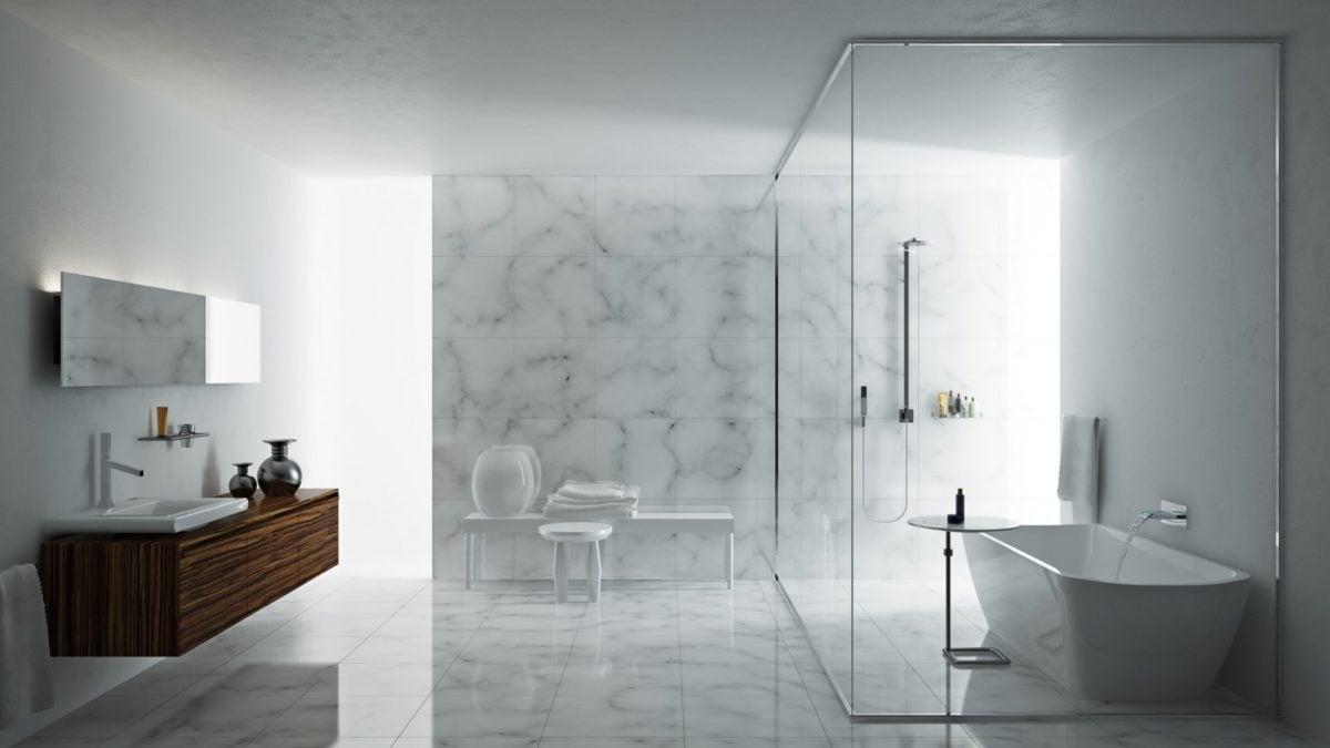 Tipi di doccia for Arredo bagno minimal chic