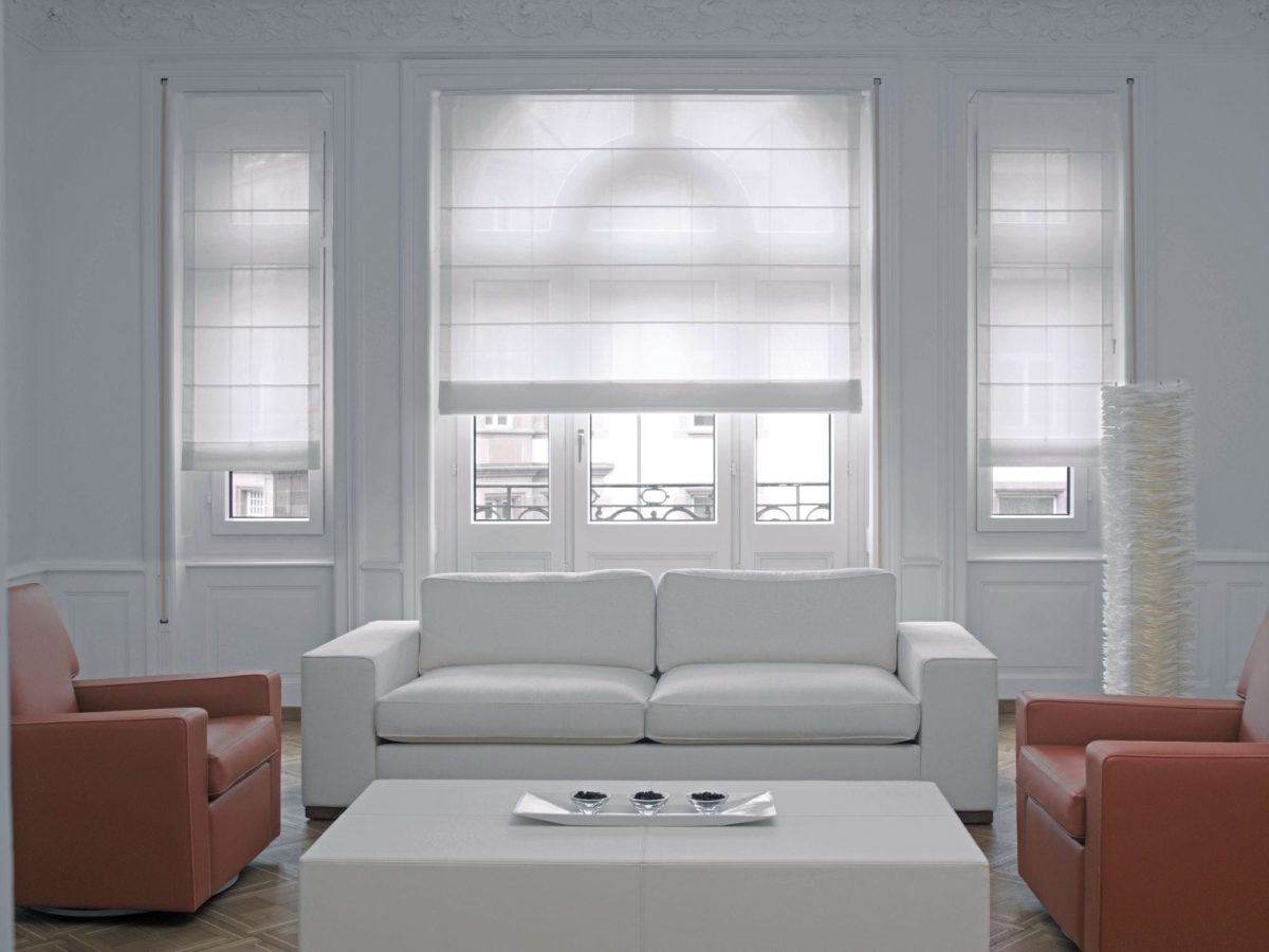 Roman blinds / canvas / for professional use