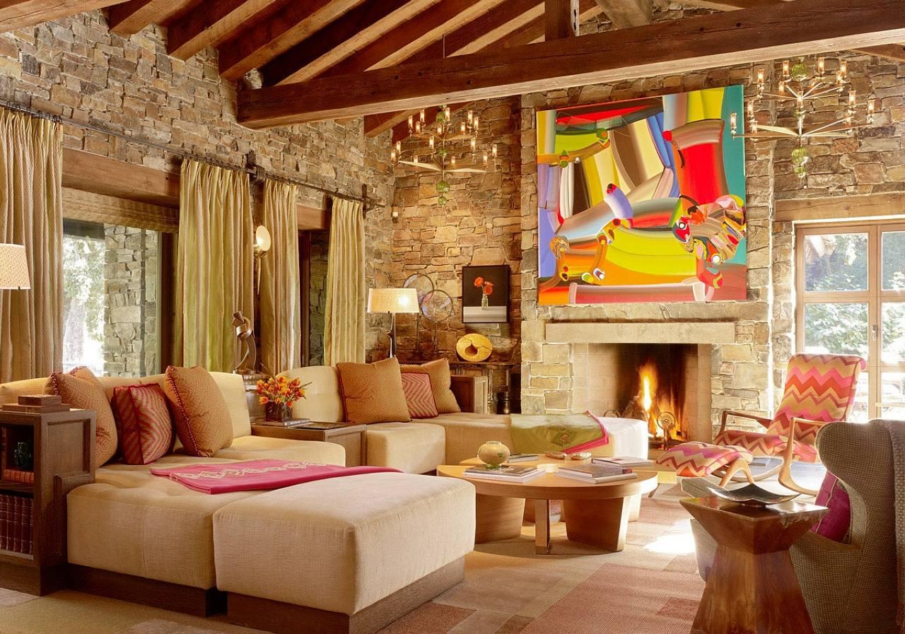 stile-eclettico-salotto-originale