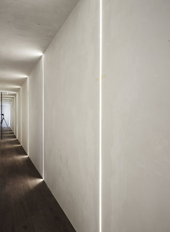abbellire-corridoio-luci-fasci-led