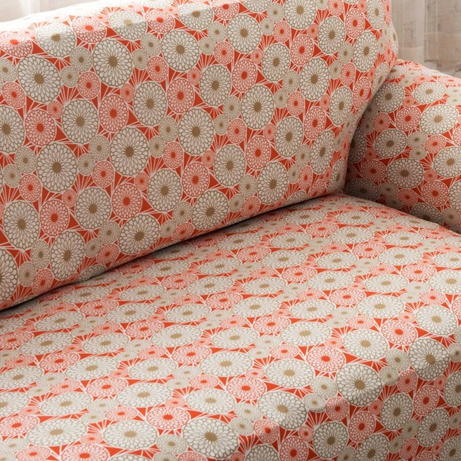copridivano-floreale-arancione