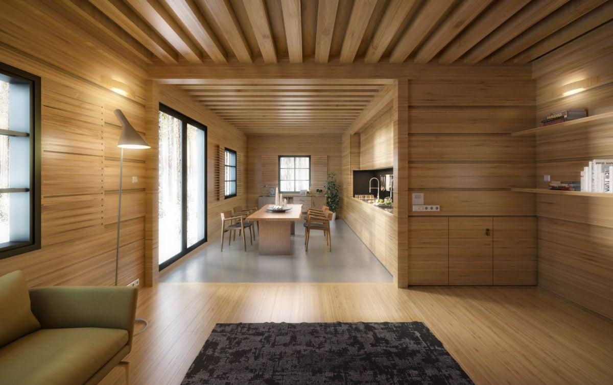 Costruire e vivere in una casa in legno for Case moderne interni legno