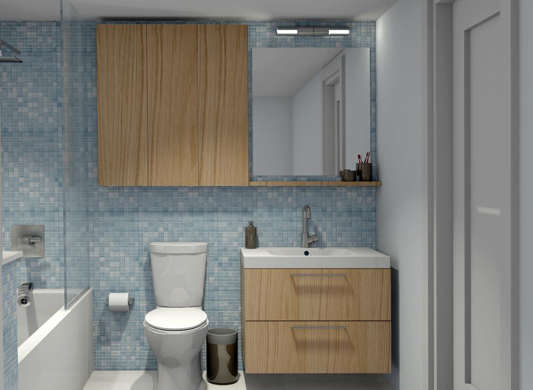 Come arredare un bagno piccolo rettangolare - Altezza minima bagno ...