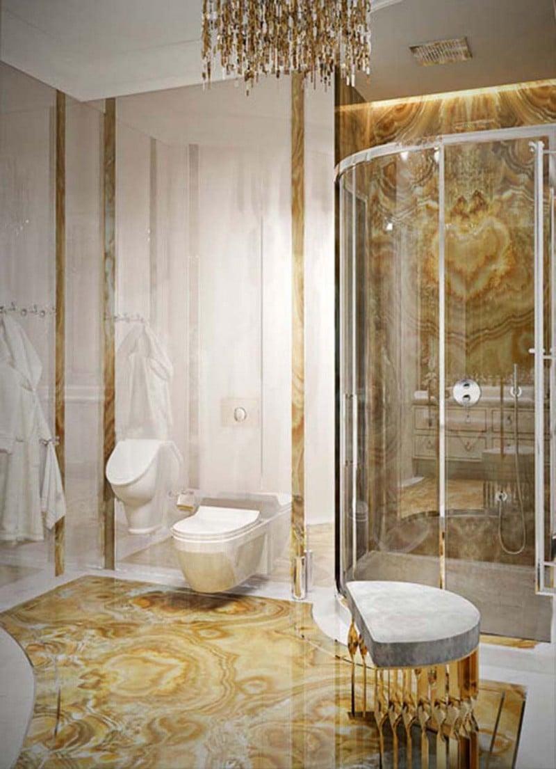 bagno-colore-oro-foto