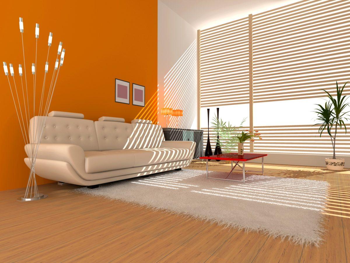 soggiorno-colore-arancione