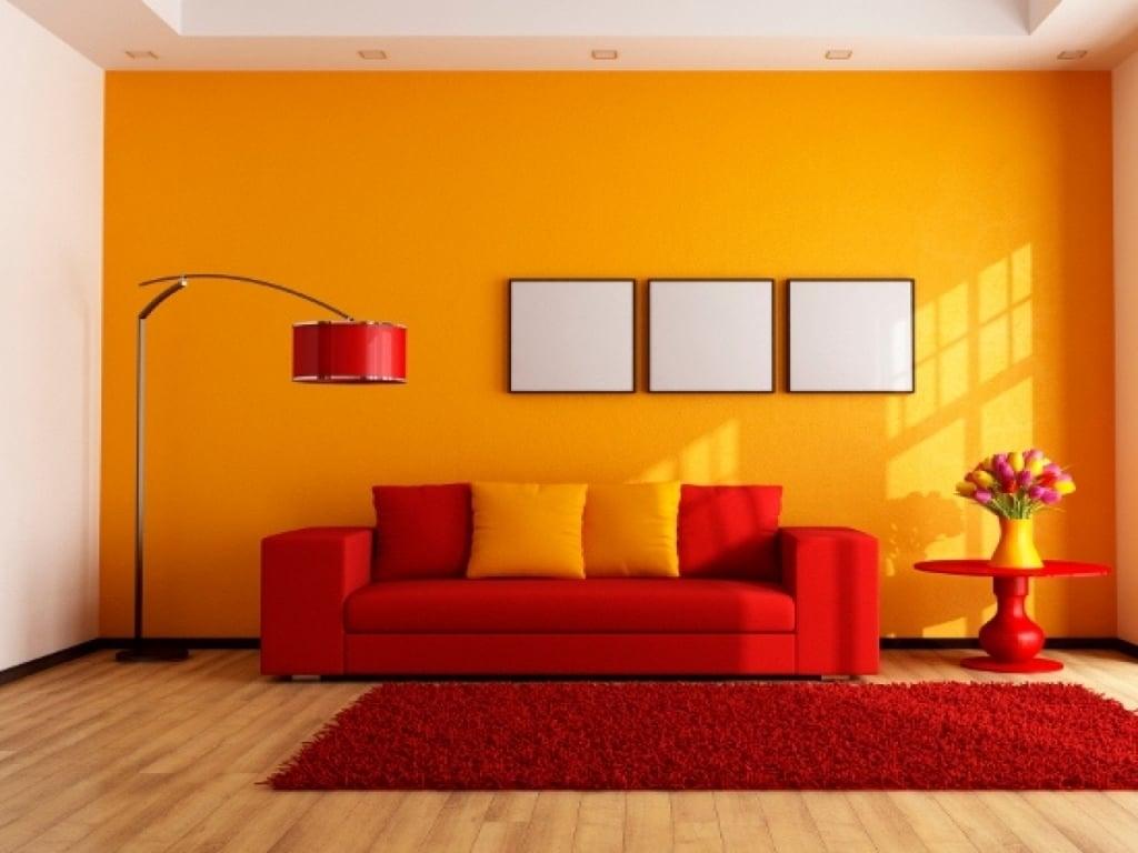Colore arancione for Colori per la sala